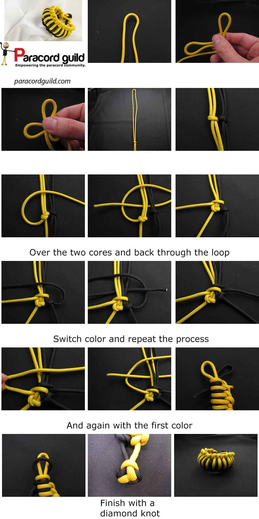 milipede paracord bracelet instructions