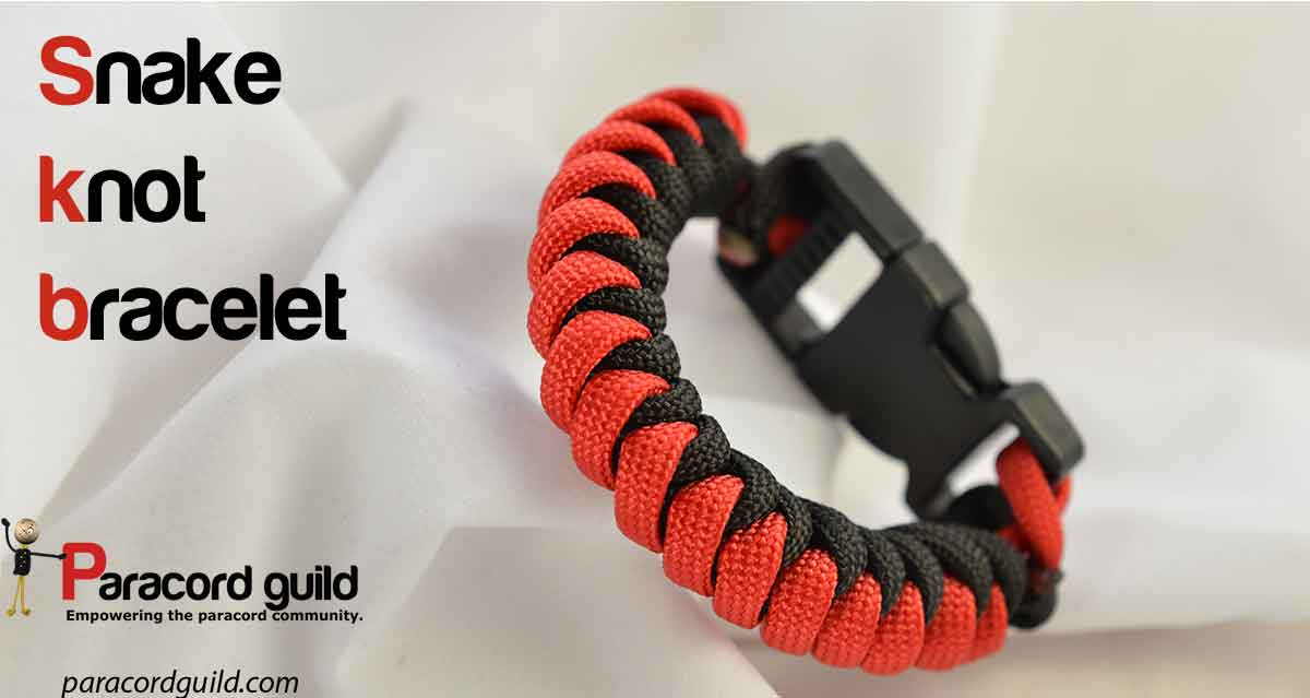 Snake Knot Paracord Bracelet Without Buckle - Bracelet
