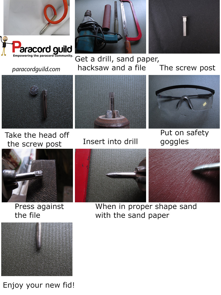 how to make a paracord needle