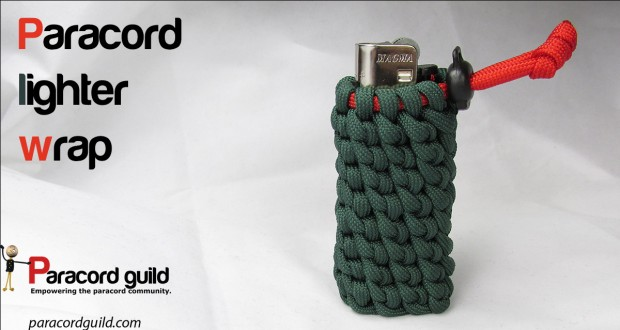 how to make a paracord lighter wrap