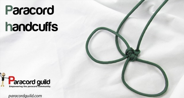 how to make paracord handcuffs