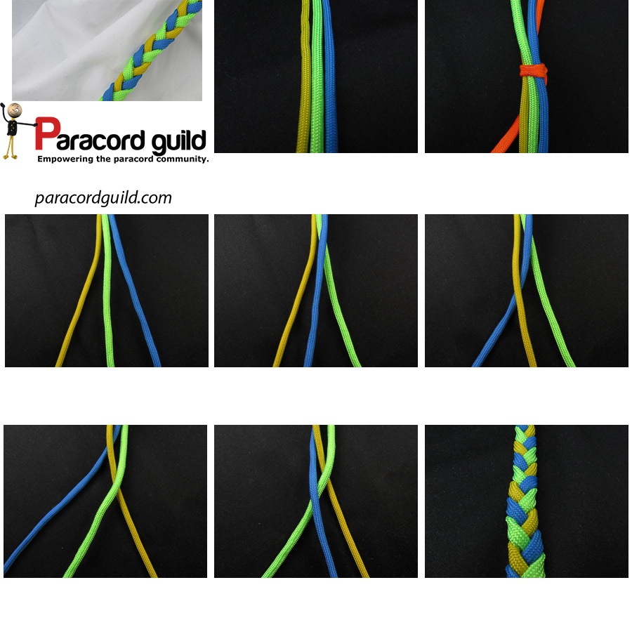 paracord three strand braid