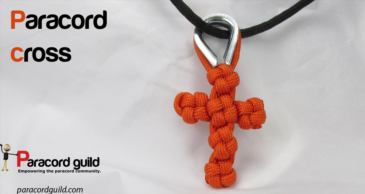 How to make a paracord cross paracord guild for How to make a keychain out of paracord