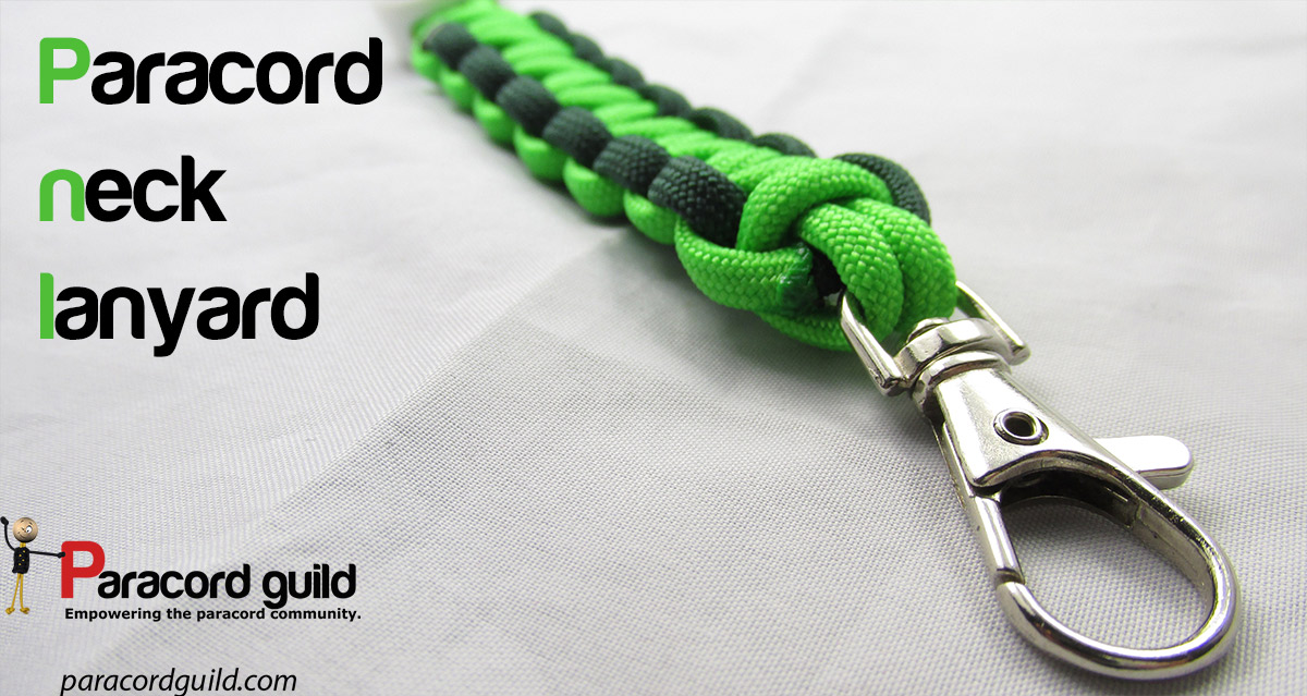 How to make a paracord neck lanyard paracord guild for How to make a paracord lanyard necklace