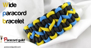 how to make a wide paracord bracelet