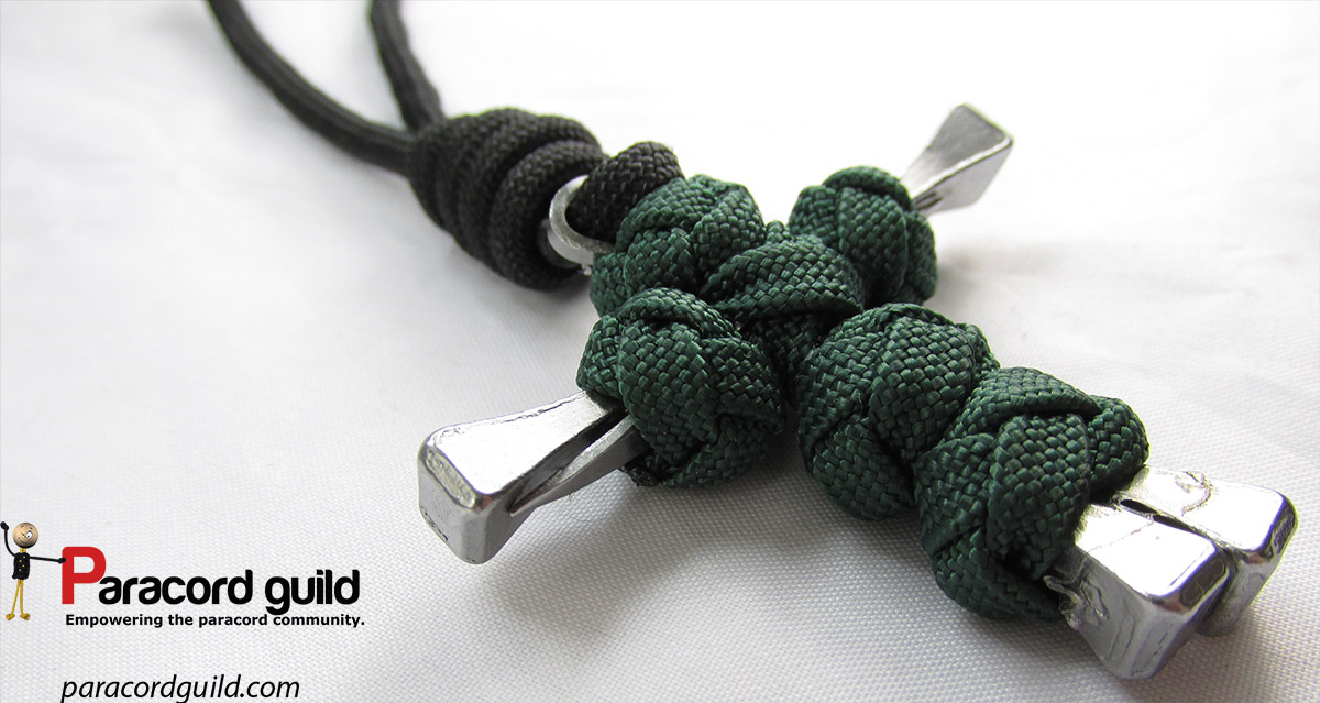 How to make a paracord nail cross paracord guild for Paracord projects