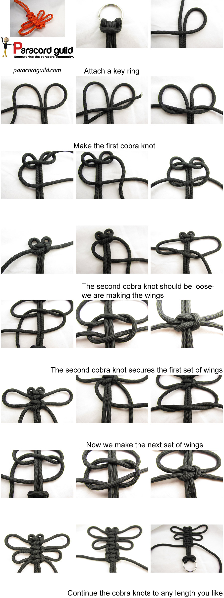 how to make a paracord dragonfly