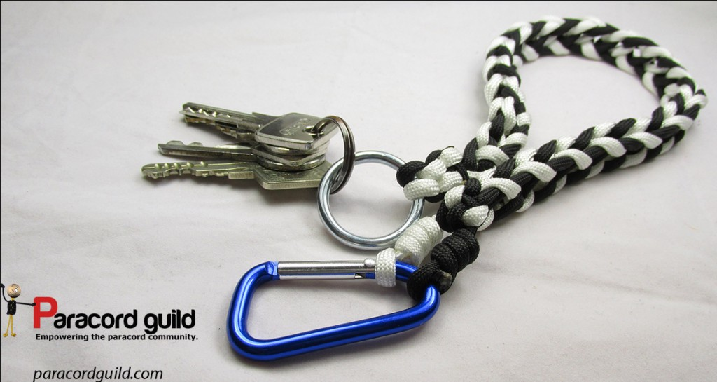 How to make a paracord key lanyard paracord guild for Paracord keychain projects