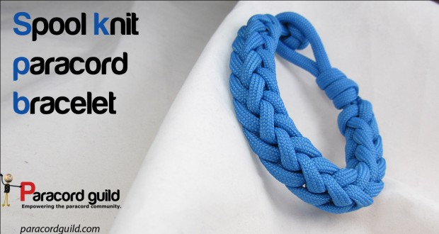 spool knit paracord bracelet