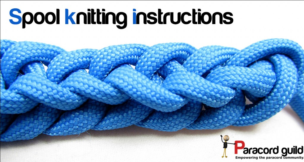 Spool knitting instructions - Paracord guild