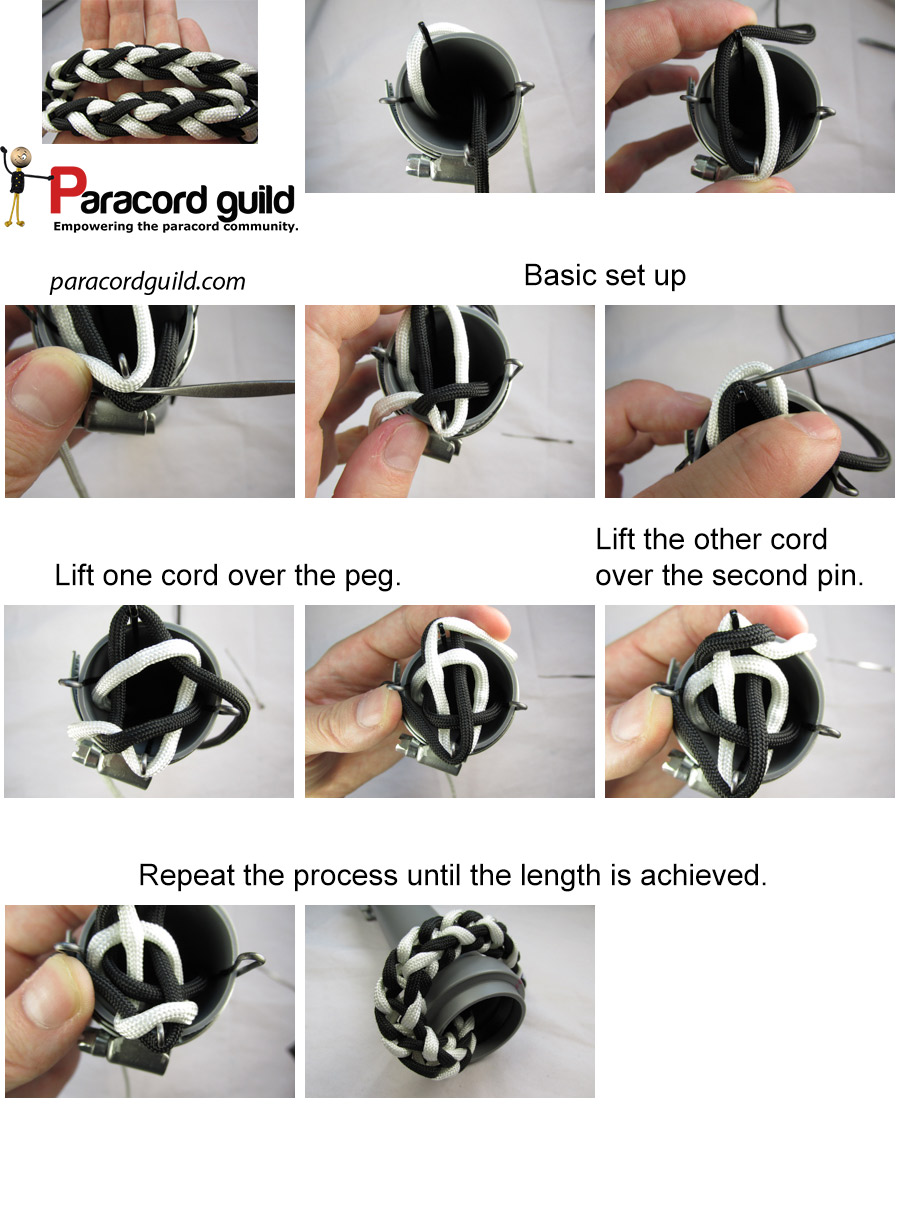 two color paracord spool knitting