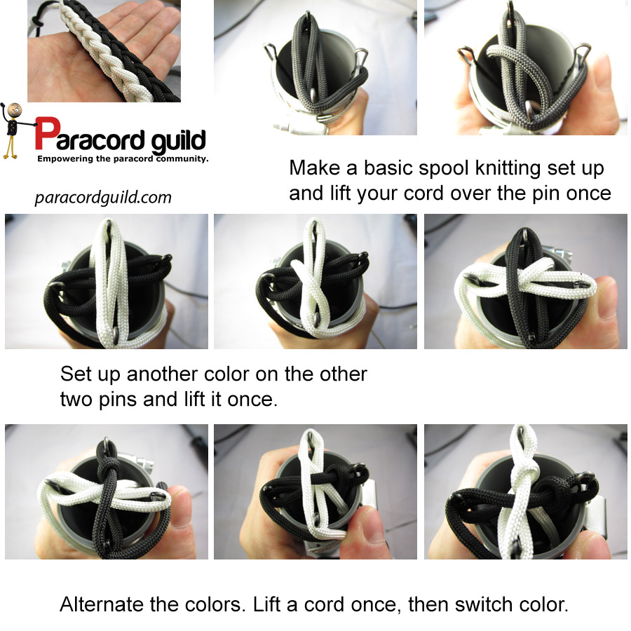 two color spool knitting instructions