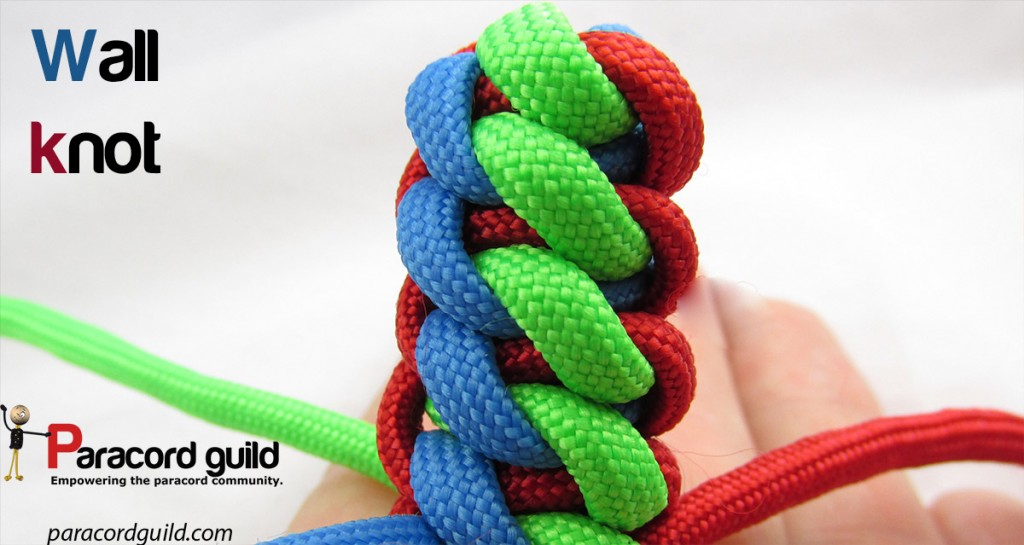 How to tie a wall knot - Paracord guild
