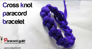 cross knot paracord bracelet