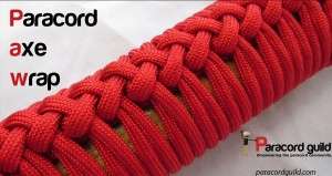 how to make a paracord axe wrap