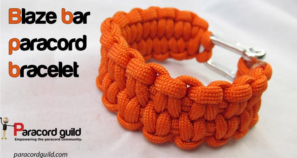 Blaze bar paracord bracelet - Paracord guild