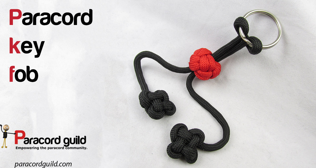 How to make a paracord key fob paracord guild for How to make a keychain out of paracord
