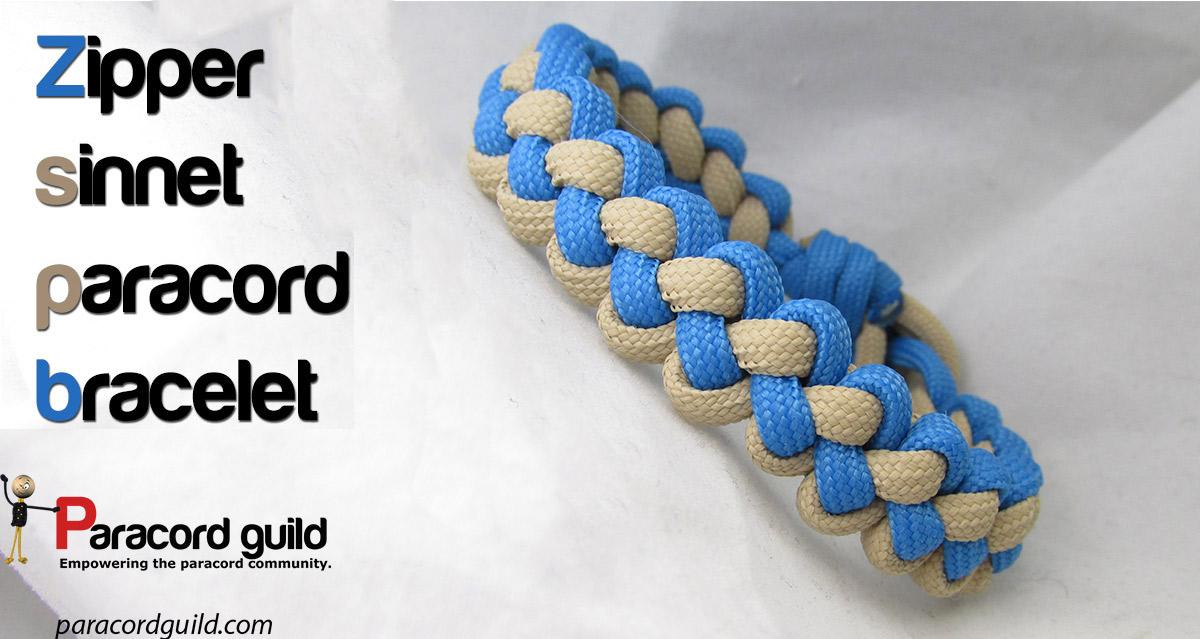 Zipper Sinnet Paracord Bracelet Paracord Guild