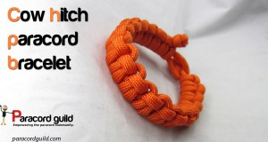 cow hitch paracord bracelet