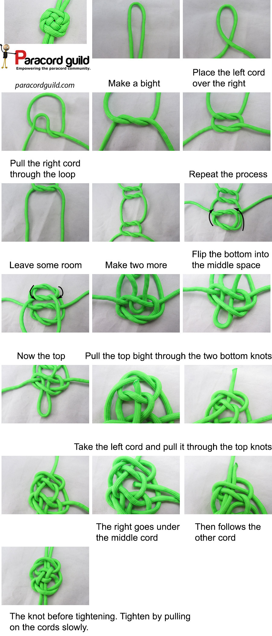 how to tie a plafond knot