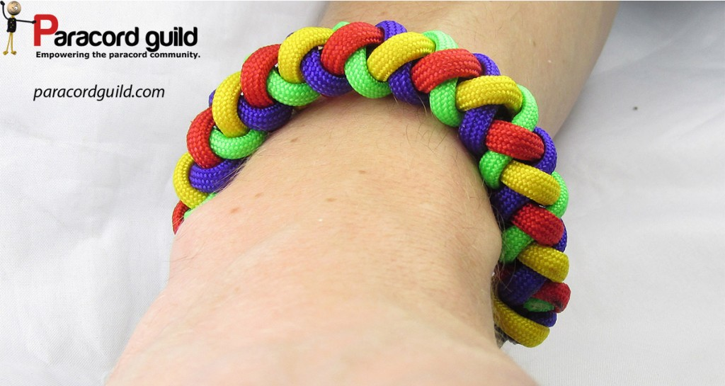 4 strand braided paracord bracelet