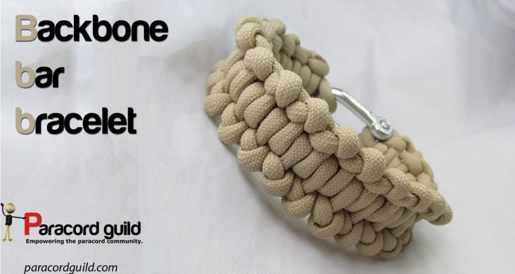 Backbone bar paracord bracelet - Paracord guild
