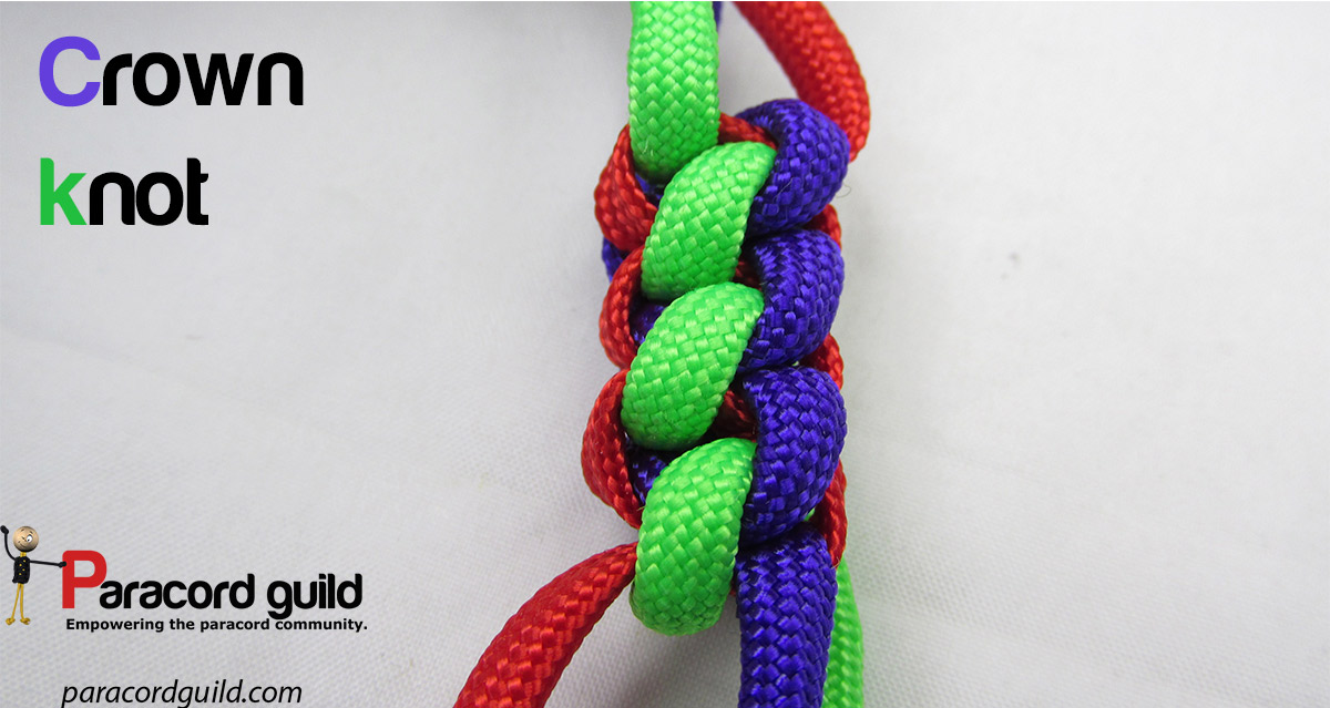 How to tie the crown knot - Paracord guild