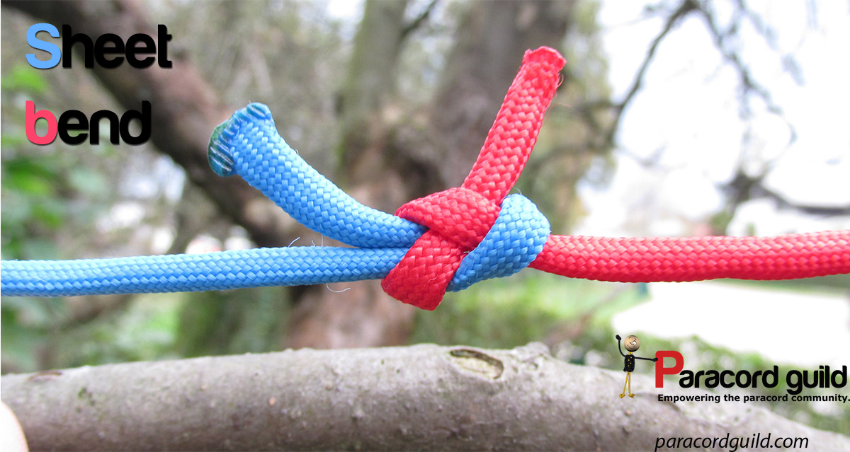 How to tie a sheet bend - Paracord guild