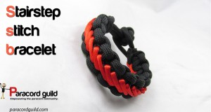 stairstep stitch paracord bracelet