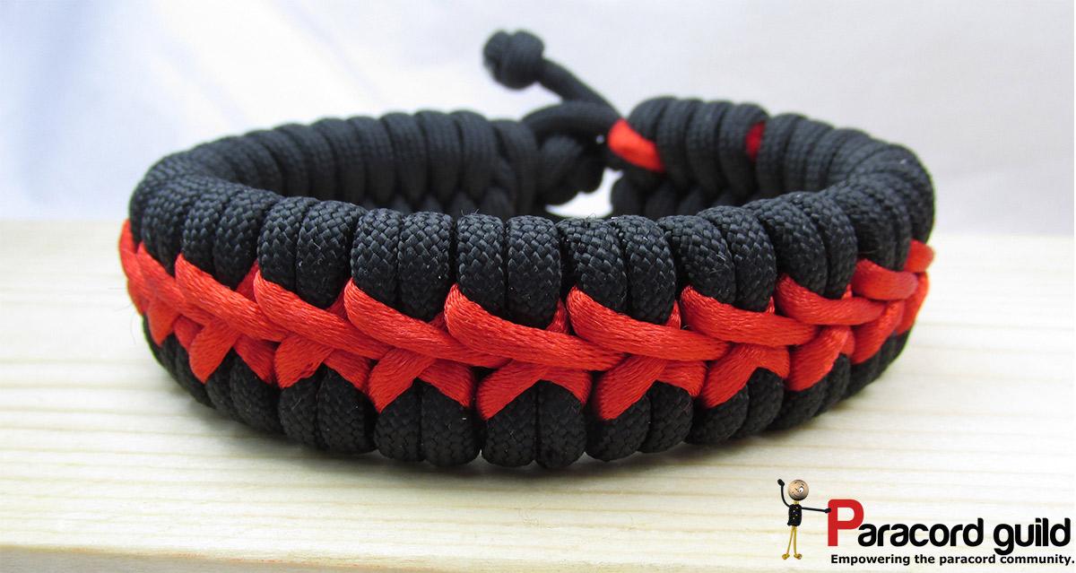 Stitched Paracord Bracelet Stitched-fishtail-paracord