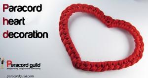 paracord heart decoration