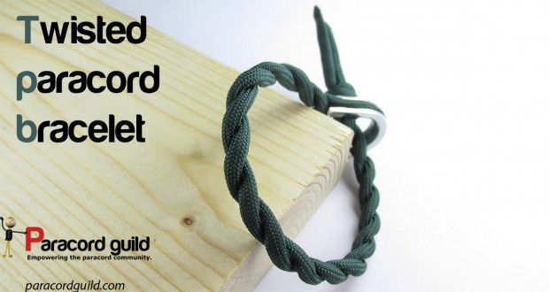 twisted paracord bracelet