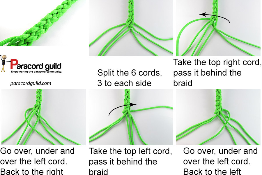 6 Strand Round Braid Tutorial Paracord Guild