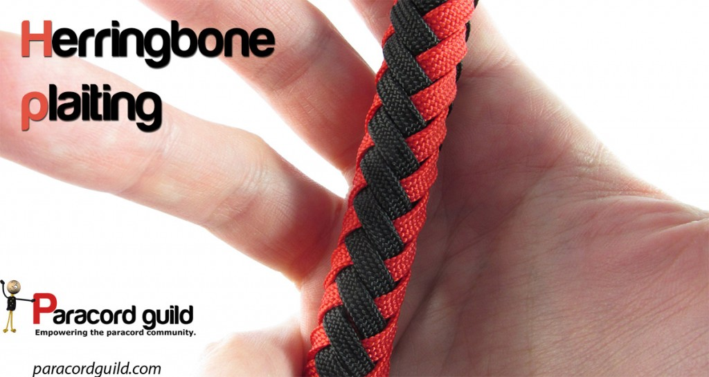 herringbone plaiting around a core paracord guild