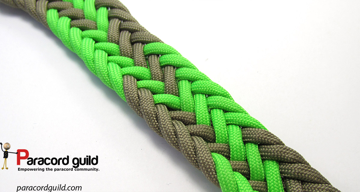 11 strand flat braid- gaucho style - Paracord guild