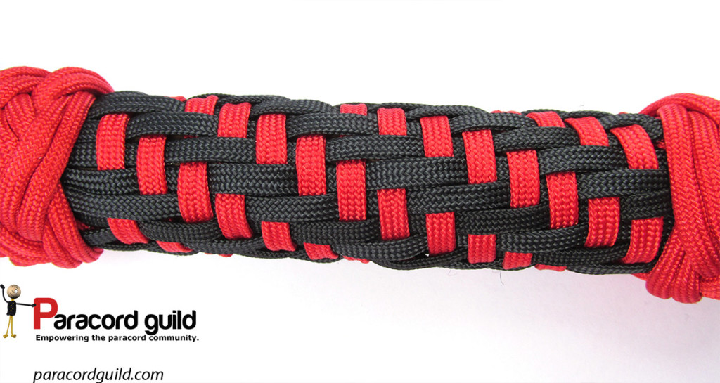 paracord wrap using modified grafting paracord guild