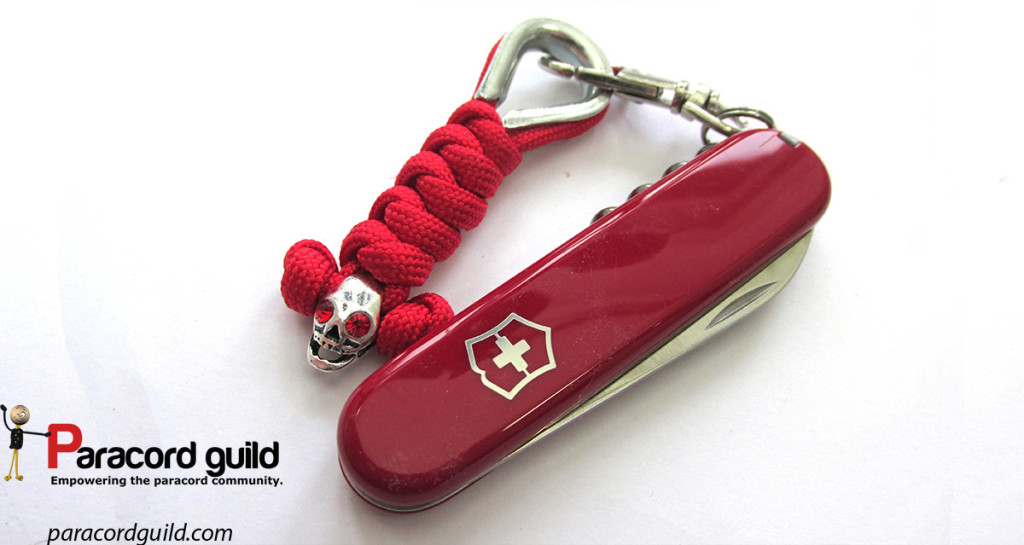 wall knot paracord keychain