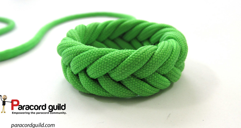 3 pass Spanish ring knot - Paracord guild
