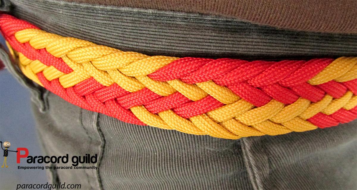 Paracord braid techniques braided paracord belt paracord guild for Paracord belt instructions