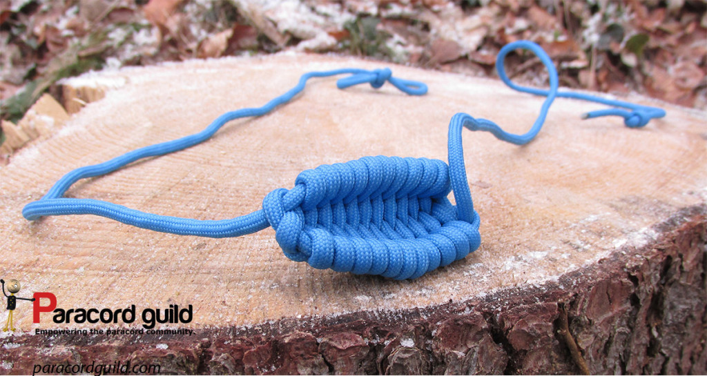 Braided woven rock sling paracord guild for Paracord rock sling