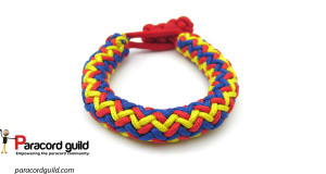 3 color hansen knot paracord bracelet