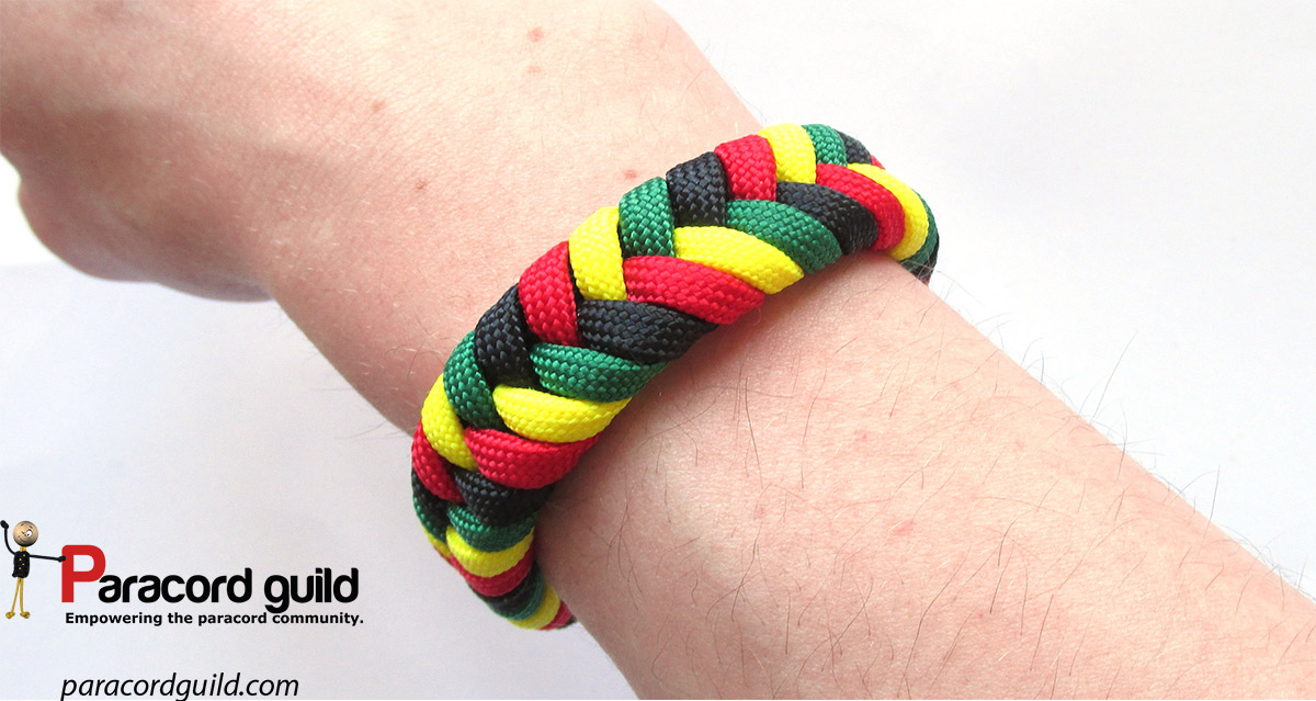 how to make a paracord bracelet without buckle 2 color