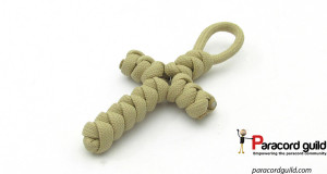 snake knot paracord cross