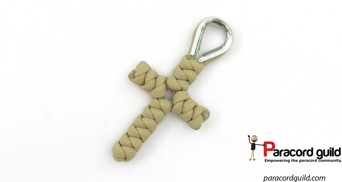 Snake knot paracord cross paracord guild for Paracord cross instructions