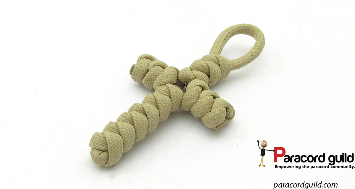 Snake knot paracord cross - Paracord guild