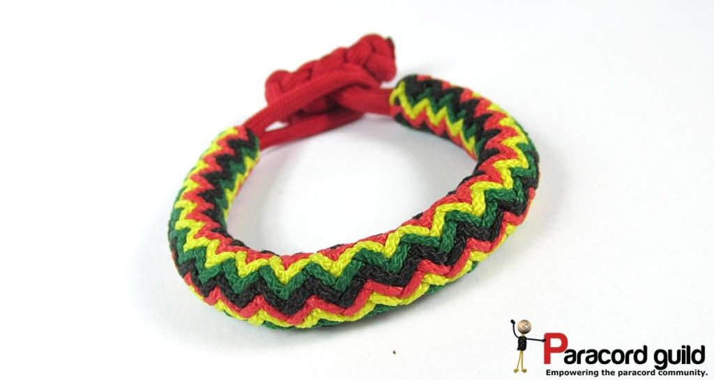4 pass gaucho fan knot bracelet.