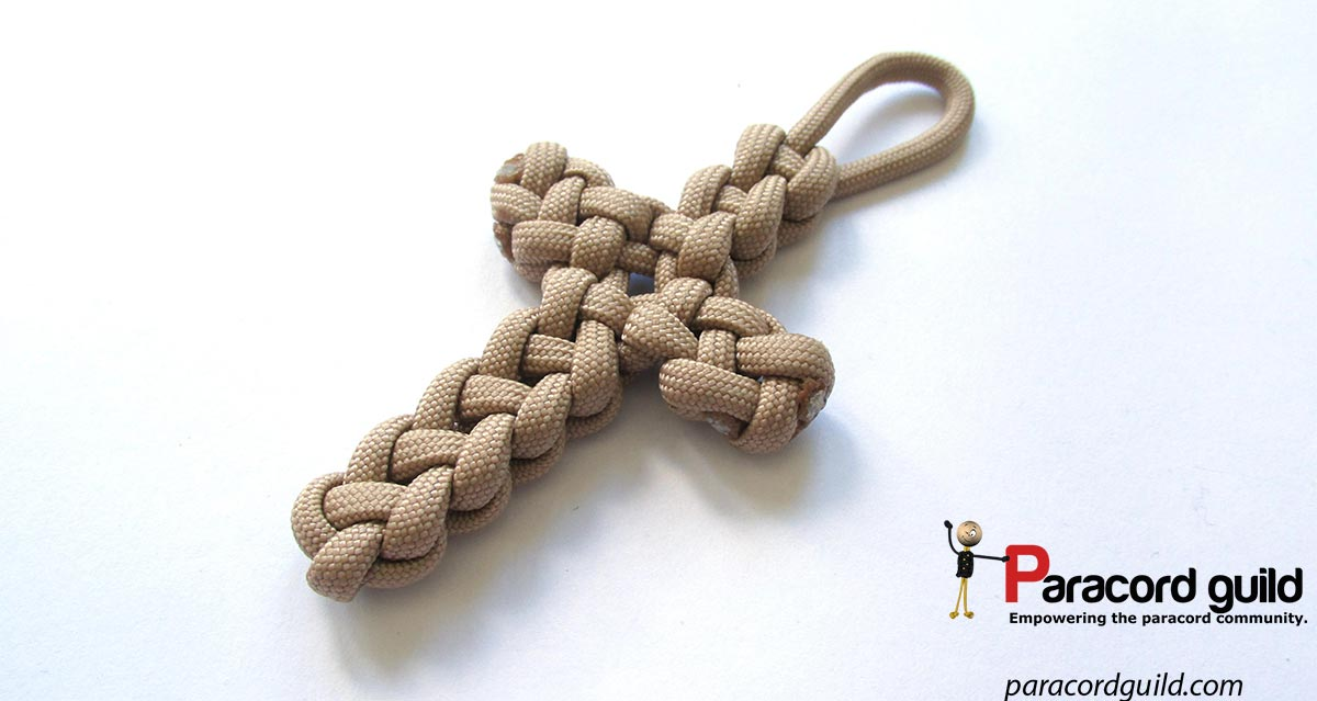 vertical crown knot cross paracord guild