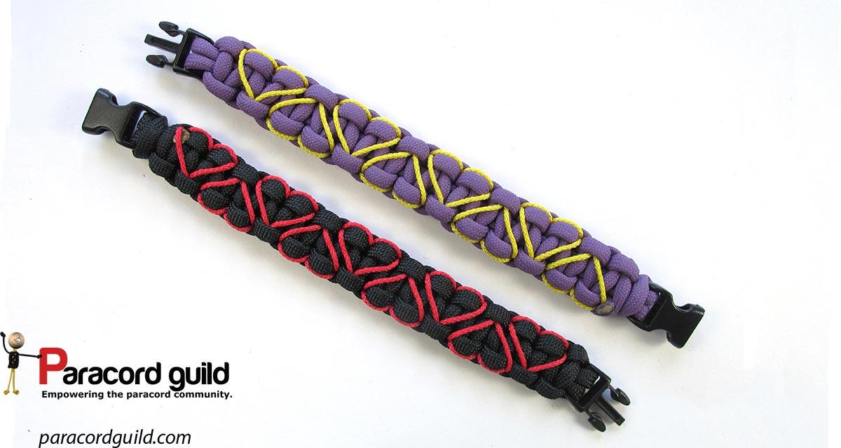 Heart Stitched Paracord Bracelet Paracord Guild Stunning Paracord Bracelet Patterns