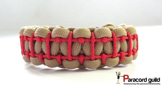 ladder stitch paracord bracelet