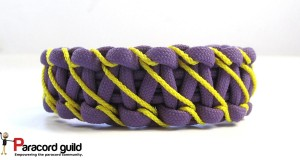 lightning stitched paracord bracelet